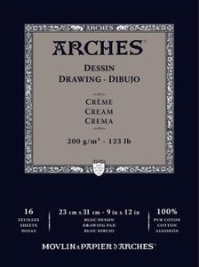 Arches Drawing Cream 200gram 23x31cm
