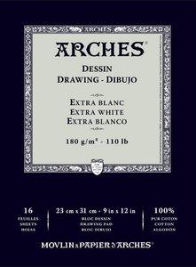 Arches Drawing Dessin Extra Blanc 180gram 26x36cm