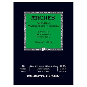 Arches Aquarelle Cold Nature White 300 gram 29.7 x 42 cm
