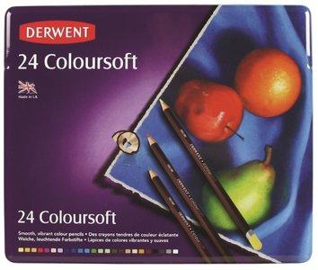 Derwent 24 Coloursoft potloden
