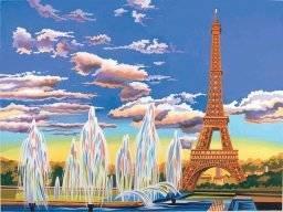 Schilderen op nummer Eiffeltoren PL129