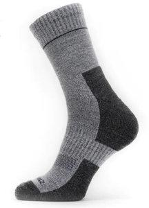 Sealskinz Solo QuickDry Ankle Length Socks Grijs Navy 43-46