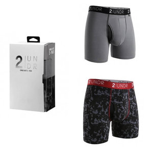 2UNDR Swingshift 2 Pack Grey/Digi Print