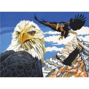 Schilderen op nummer Eagles