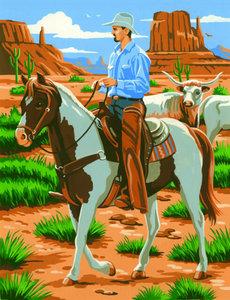 Schilderen op nummer Cowboy