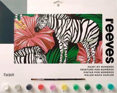 Schilderen op nummer Grote Zebra PL210