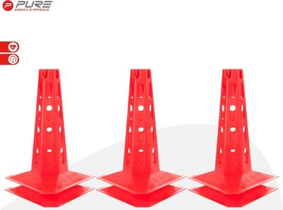 Pure2Improve Cones Set 30cm