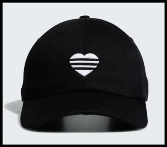Adidas 3 Stripes Heart Cap Black