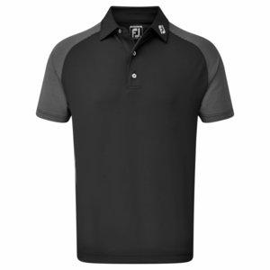 Footjoy Raglan Jacquard Block Black Polo