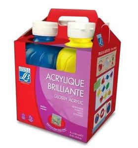 Lefranc&Borgeois Acrylque Brillante 4-delige Verf Set