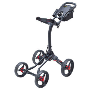 Bagboy Quad XL Matte Black Red Golftrolley