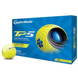 Taylormade TP5 Golfballen Geel 12 stuks