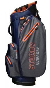 Fastfold Sturdy Ultra Dry Cartbag Blue Charcoal Orange