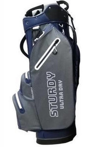 Fastfold Sturdy Ultra Dry Cartbag Navy Charcoal White